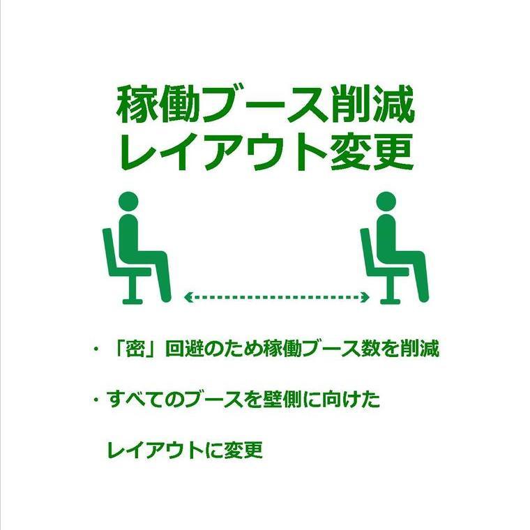 【感染拡大防止対策 その4】稼働ブース削減とレイアウト変更